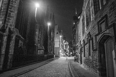 Back to the 17th Century (Brian Travelling) Tags: erie creepy weird old architecture historic blackandwhite mono edinburgh scotland city