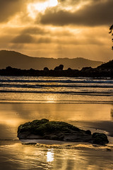 Watching the sunrise from Umina Point (Merrillie) Tags: daybreak uminabeach landscape nature australia reflections nswcentralcoast newsouthwales sea nsw uminapoint beach ocean centralcoastnsw umina clouds photography waves outdoors seascape waterscape centralcoast water sunrise portraitlandscape