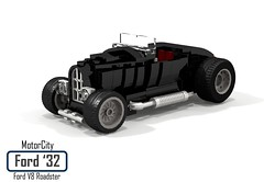 MotorCity Ford 1932 V8 Roadster (lego911) Tags: ford 1932 1930s classic v8 roadster custom kustom usa america auto car moc model motorcity lego 911 ldd render cad povray lugnuts challenge 109 deuceswild deuces wild lego911 convertible foitsop