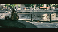 At Ease (R*Wozniak) Tags: 16x9 street girl milwaukee fall colors cinematic candid cinematography widescreen women water nikond750 nikon 50mm d750