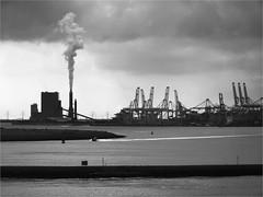 Hook of Holland Harbour (herman van hulzen) Tags: hermanvanhulzen nederland netherlands rotterdam maasvlakte hookofholland hoekvanholland powerstation energiecentrale harbour