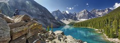 Panorama_ Moraine Lake (John Andersen (JPAndersen images)) Tags: banff geology morainelake mountains panorama summer turquoise wow