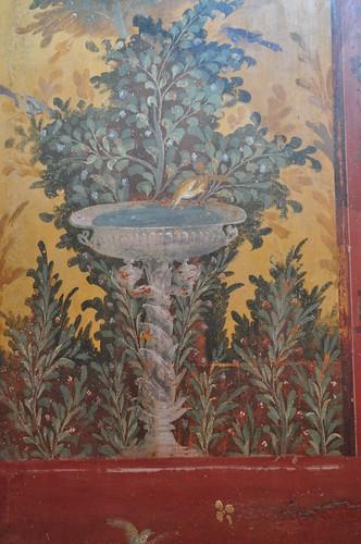 Décor des salons de l'époque impériale, Villa de Poppée, Oplontis, Torre Annunziata, Campanie, Italie.