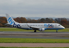 G-FBJH Embraer 175 of Flybe (SteveDHall) Tags: aircraft airport aviation airfield aerodrome aeroplane airplane manchester manchesterairport ringway 2016 airliner airliners be bee flybe embraer e175 embraer175 gfbjh