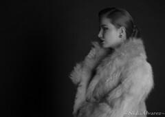 Sesin Fotogrfica. Yaiza Rodrguez (nidiaalvarez16) Tags: sesion fotografica blancoynegro mondo negro set modelo eisv escuela imagen sonido vigo marcote aceimar 021216