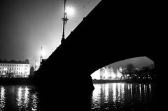 IMGP2047-Edit-1 (Jan Eric Elger) Tags: fog prague praha prag pentax trix kodaktrix bw baw bnw blackandwhite blackwhite atumn winter cold freezing cityscape landscape river