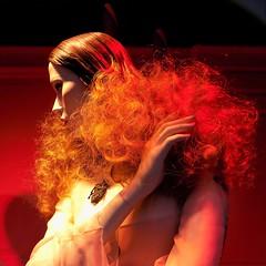 Redhead (KaDeWeGirl) Tags: newyorkcity manhattan midtown fifthavenue saks holiday windows mannequin redhead red hair ginger waves shadows light