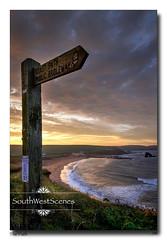 The Path (jeremy willcocks) Tags: thurlestone devon southhams colour morning beach thurlestonerock southmiltonsands sky sign coastpath sand fujixt10 xf1024mm jeremywillcocks wwwsouthwestscenesmeuk landscape seascape