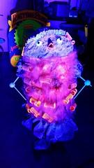 Hair Curler figure - Knott's Bear-y Tales (Althegamefreak) Tags: psychedelic weird cool animatronic vintage blacklight darkride disney rollycrump knotts knottsberryfarm