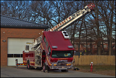 Somerset Fire Department (raymondclarkeimages) Tags: raymondclarkeimages usa 8one8studios rci canon 2470mm28 6d outdoor firetruck firedepartment safety apparatus emergency ladder pierce ladder1 l1 somerset massachusetts flickr google yahoo