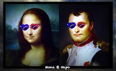 Mona et Napo (Kay Harpa) Tags: marionsles napoléon monalisa monapo posters affiches hôteldeville paris photokay thebiggestgroup