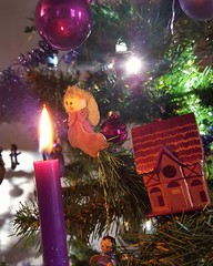Merry Christmas to All my  Friends    Happy Holidays (! . Angela Lobefaro . !) Tags: festive natale christmas decorations christmastree alberodinatale candela candles angels angel biella biellese reflections purple violet viola noel navidad salzburg valdengo engel fav10