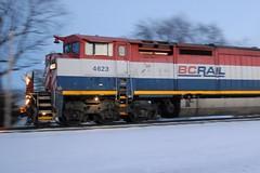 Blurred Beast (Wide Cab) Tags: bcol britishcolumbiarailways bcr c408m c449wl dash9 dash8 freight train a447 neenahsub oshkoshwi