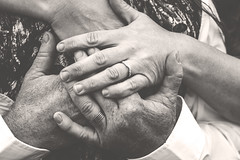 Rings (Mallory Murphy Photography) Tags: wedding fall sepia groom bride hands camo rings huntertheme
