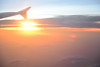 Sun Setting in the Sky (abdul / yunir) Tags: sunset sky sun clouds aeroplane wingtip justclouds