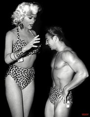 Jayne Mansfield as Giganta (iggy62pop2) Tags: sexy celebrity fetish hands funny legs babe bikini blonde upskirt lookingdown milf giantess jaynemansfield tallwoman heightcomparison shrinkingman minigiantess