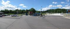 Tillfllig busstation i Angered 15 juni 2013 (biketommy999) Tags: panorama bus photoshop gteborg buss angered vsttrafik 2013 biketommy biketommy999