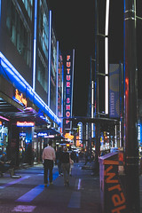 Futuristic (Brandon Dy Tang) Tags: street city canada night vancouver 35mm photography nikon downtown photographer bc granville britishcolumbia citylife photograph nightshots nightlife futureshop vancity cityshots vsco vscofilm