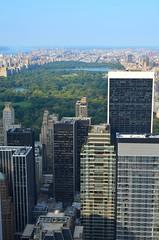 Central Park from Top of the Rock. (Ji-) Tags: city nyc newyork skyline buildings nikon centralpark topoftherock nikon35mmf18g nikond5100