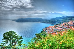 Mirador de Lastres / Viewpoint of Lastres (Asturias, Spain) (stephenhaworth) Tags: sea mar view asturias viewpoint hdr mirador lastres nikond90 doctormateo