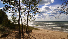 October Shoreline (Rick Lanting) Tags: lakemichigan saugatuck