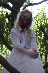 Dearly Departed (Tash Bandicoot) Tags: rose forest vintage walking dead photography bride lucy model photographer dress zombie decay victorian makeup gore blonde corpse fx virus decaying sfx contamination tash bandicoot zombieland gorefreak