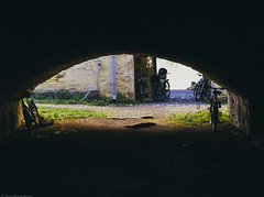 Exit (Tommi--) Tags: bicycle nikon cave suomenlinna sveaborg 2470mmf28 d3s