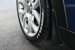 Pirelli (DustinIlles) Tags: blue white car michigan mini s lars cooper vehicle cranbrook bomber pirelli 9119