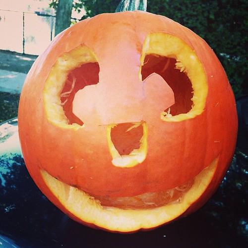 The #happy #pumpkin -#haloween #2014 - #mindful #jack