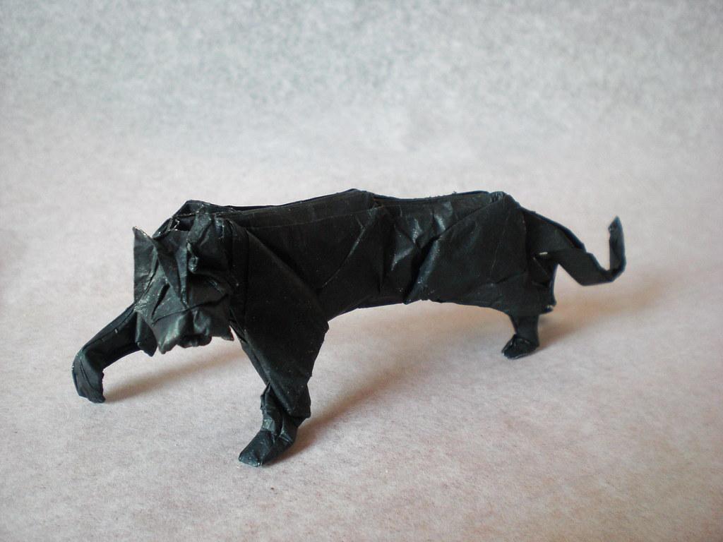 Black Panther Mrmicawer Tags Origami Felino Hunter Papel Negra Papiroflexia Pantera