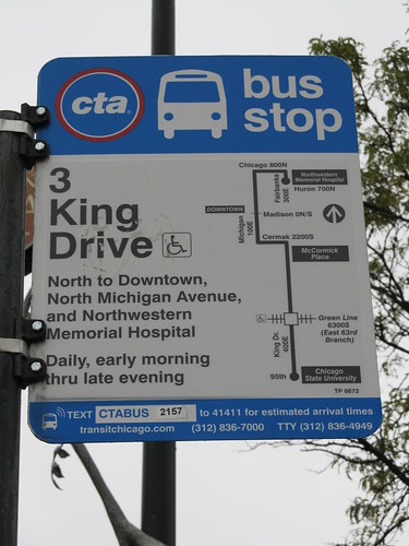 3 King Drive CTA Bus Stop Sign - a photo on Flickriver