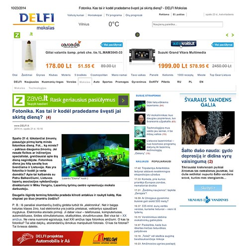 Largest Lithuanian news portal reports on Day of Photonics1