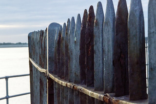 The fence by the sea (HFF) My first EXPLORE! 3/10/14