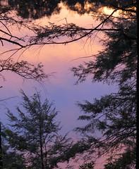 Pelton Pond, Clarence Fahnestock Park, NY (lotos_leo) Tags: statepark travel pink sunset favorite reflection nature water pond aqua outdoor trail zen northamerica serene appalachian eastern acqua clarence appalachiantrail pelton fahnestock appalachianmountains appalachians  crossamerica    crossamerica2014