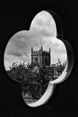 (Martyn.A.Smith LRPS) Tags: trees church monochrome clouds warwickshire coughtoncourt quatrefoil canon7d