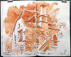 140930 Maison de la Pommette (Vincent Desplanche) Tags: watercolor sketch stage aquarelle workshop rocamadour croquis randocroquis