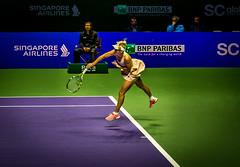 Wozniacki Service Motion (otarboy79) Tags: canon drive women singapore stadium indoor tennis slice service volley wta backhand kallang forehand 2470f28 5dmk3