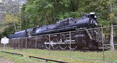 Logan, West Virginia (3 of 5) (Bob McGilvray Jr.- 1.5 million views! Thank you!) Tags: statepark railroad train display tracks engine steam westvirginia co locomotive logan fenced 1947 steamlocomotive 284 chesapeakeohio limalocomotiveworks chiefloganstatepark