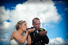 Blow a Kiss (Andy Allan) Tags: scotland kilt kilts lochlomond scottishwedding luss lusspier scottishcouple lochlomondwedding andyallanphotography