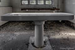 Morgue-8 (StussyExplores) Tags: england white abandoned death explore nhs exploration derelict porcelain slab morgue clinical urbex