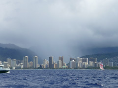 Valley rain (enjbe) Tags: ocean city rain hawaii waikiki cityskyline