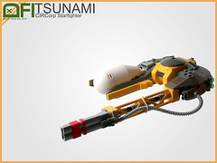 CIRCorp Tsunami Starfighter (Dead Frog inc.) Tags: lego space scifi spaceship assymetric outpost starfighter circorp