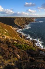 Carn Gloose, Cornwall - Looking towards Cot Valley (splib1) Tags: ocean uk blue sea sky cloud seascape green water weather coast rocks solitude cornwall heather tide wave calm atlantic erosion wash craggy jagged serene atlanticocean cornish cotvalley carngloose splib1