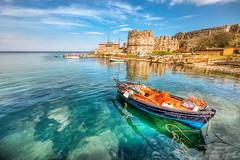 Mytilene, Greece (Nejdet Duzen) Tags: trip travel sea reflection castle island ada boat greece kale deniz lesbos sandal mytilene yunanistan yansma eageansea seyahat egedenizi midilli