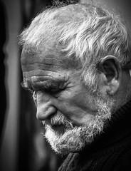 Portrait 23 (pootlepod) Tags: street portrait blackandwhite man male monochrome closeup beard photography stphotographia