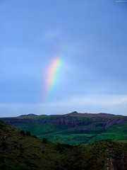"""Rainbow fragment above rocky hills superzoom • <a style=""""font-size:0.8em;"""" href=""""http://www.flickr.com/photos/34843984@N07/15545104835/"""" target=""""_blank"""">View on Flickr</a>"""