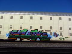Galaxe (VDub (o\I/o)) Tags: california ca railroad train coast central tracks railway trains railcar valley bayarea boxcar tagging boxcars charachter ridged trackside vdub rbox galaxe railart railbox railside benching freightbums