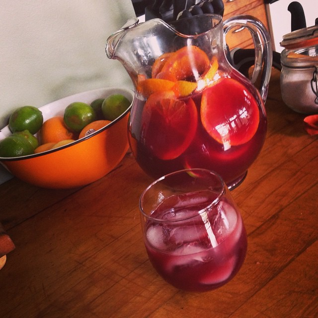 This afternoon: homemade sangria #hantzh by Farther Along, on Flickr