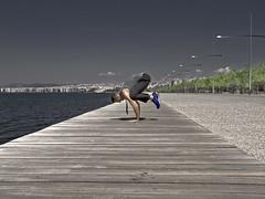 The crow of Salonica (tSos Greq) Tags: male yoga pose greece macedonia thessaloniki crow asana kakasana