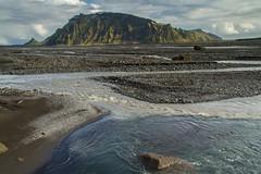 Hafursey á Mýrdalssandi (icecold46) Tags: mountain water river iceland sand clear sandar fjöll suðurland jökulá bergvatnsá hafursey múlakvísl glaciarriver